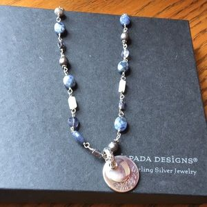 Silpada Multi-Stone Necklace with SS Pendant